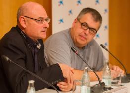 José M Serratosa y Nils Brose. Foto crédito: Biocat @JordiCabanas